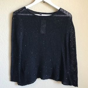 Eileen Fisher Loose Knit Sequins Sweater